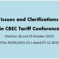 CBEC Released Minutes of Excise Tariff Conference held on 28 and 29 October 2015