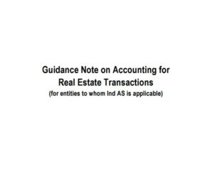 Guidance Note on Accounting for Real Estate Transactions
